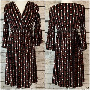 Max Studio Geometric Empire Waist Jersey Dress